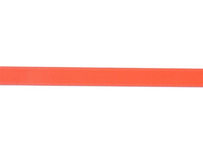 1 m ruban satin uni corail fluo 205 - 8 mm