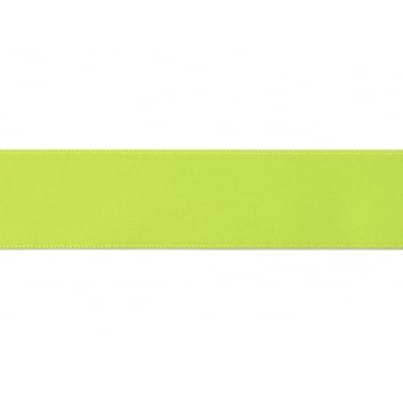 1 m ruban satin uni jaune fluo 201 - 26 mm