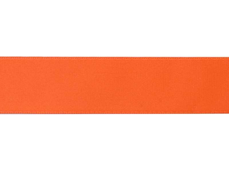 1 m ruban satin uni orange fluo 203 - 26 mm