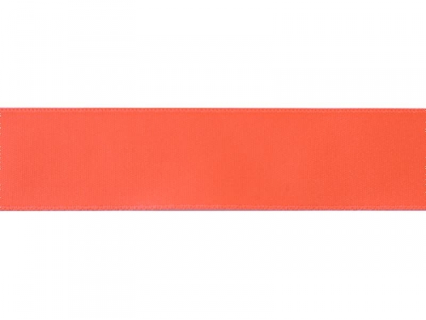 1 m of satin ribbon (26 mm) - neon coral red (colour no. 205)