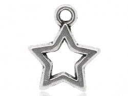 1 breloque étoile argentée  - 1