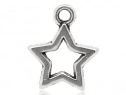 1 silberfarbener Sternenanhänger