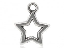 1 silver-coloured star charm