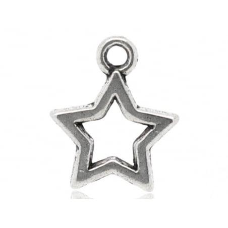 1 breloque étoile argentée