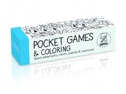 Pocket games and colouring + 1 multi-colouring pencil - Cosmos