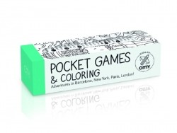 Pocket games and colouring + 1 multi-colouring pencil - City