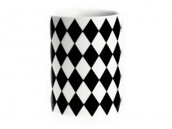 Tasse géométrique - Losange noir Ferm living - 1