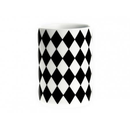 Tasse géométrique - Losange noir