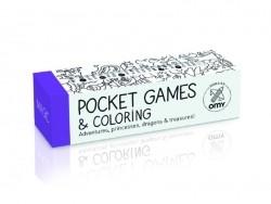 Jeux de poche à colorier + 1 crayon 8 couleurs - Magic