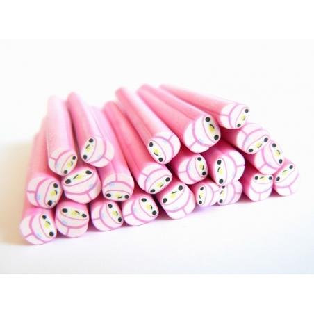 Acheter Cane lapin bonnet rose kawaï en pâte polymère - 0,99€ en ligne sur La Petite Epicerie - Loisirs créatifs