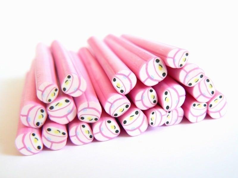 Acheter Cane lapin bonnet rose kawaï en pâte polymère - 0,99€ en ligne sur La Petite Epicerie - 100% Loisirs créatifs