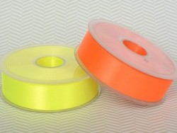 1 m ruban satin uni jaune fluo 201 - 26 mm