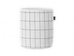 Panier en tissu - Quadrillage noir et blanc Ferm living - 1