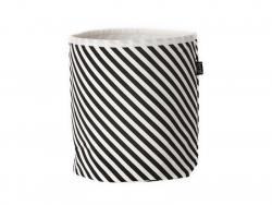 Stoffkorb - schwarz-weiße Streifen