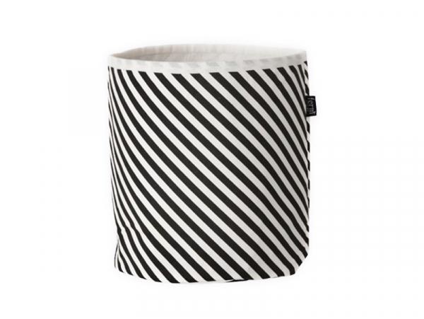 Acheter Panier en tissu -Rayures noires et blanches - 29,90€ en ligne sur La Petite Epicerie - 100% Loisirs créatifs