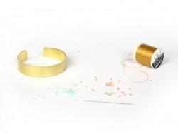 Bracelet manchette en laiton - 1,3 cm
