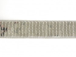 Sequin trim (22 mm) - Silver (colour no. 002)