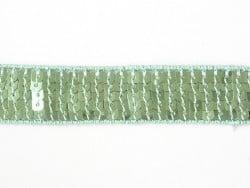 Galon à sequins 22mm - Vert 010