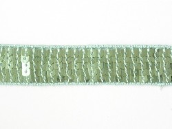 Sequin trim (22 mm) - Green (colour no. 010)