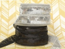 Sequin trim (22 mm) - Black (colour no. 014)