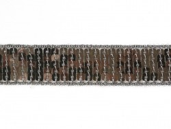 Sequin trim (22 mm) - Anthracite (colour no. 038)