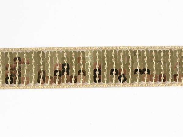 Sequin trim (22 mm) - Gold (colour no. 051)