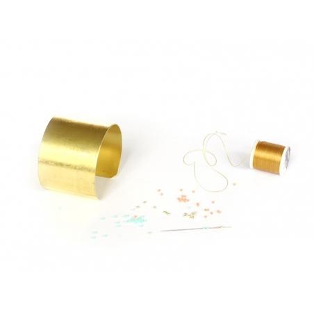 Bracelet manchette en laiton - 4,5 cm