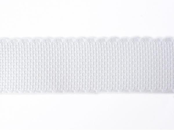 1m de galon en toile Aida 35 mm - blanc 001
