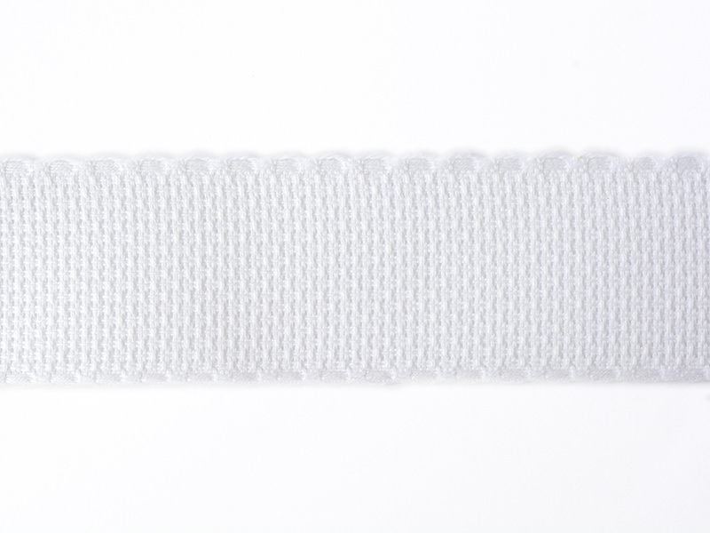 Aida cloth trim (35 mm) - White (colour no. 001)