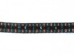 1m de galon lurex et perles 10mm - Noir 014  - 1