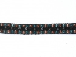 Lurex and bead trim (10 mm) - Black (colour no. 014)