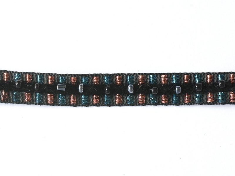 Acheter 1m de galon lurex et perles 10mm - Noir 014 - 4,30€ en ligne sur La Petite Epicerie - 100% Loisirs créatifs
