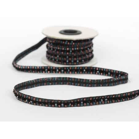 Lurex and bead trim (10 mm) - Black (colour no. 014)