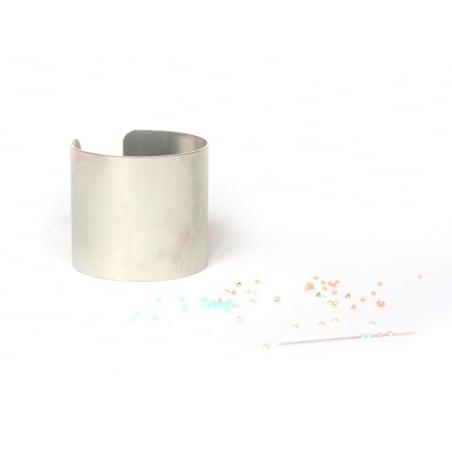 Bracelet manchette en aluminium - 5 cm