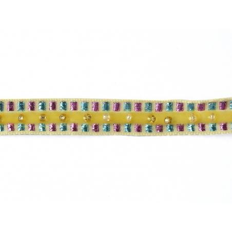Acheter 1m de galon lurex et perles 10mm - Jaune 081 - 4,30€ en ligne sur La Petite Epicerie - 100% Loisirs créatifs