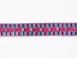 Lurex and bead trim (10 mm) - Pink (colour no. 073)