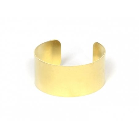 Brass bangle - 2.5 cm