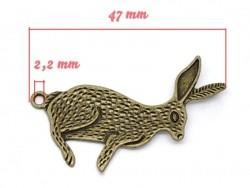 1 Breloque gros lapin