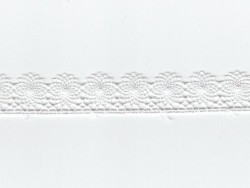1 m of lace ribbon (16 mm) - white (colour no. 001)