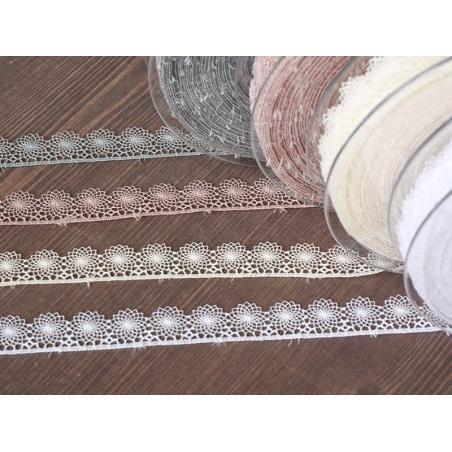 1 m de ruban dentelle 16 mm - blanc 001
