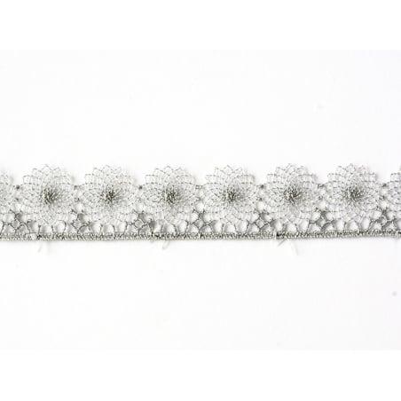 1 m de ruban dentelle 16 mm - Gris 031
