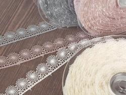 1 m of lace ribbon (16 mm) - Grey (colour no. 031)