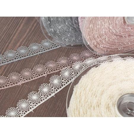 Acheter 1 m de ruban dentelle 16 mm - Gris 031 - 2,82€ en ligne sur La Petite Epicerie - Loisirs créatifs