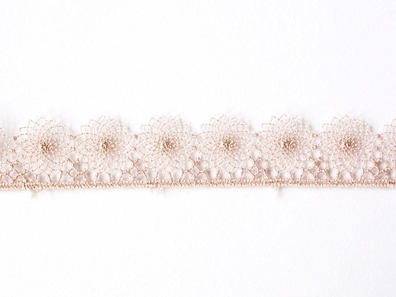 1 m of lace ribbon (16 mm) - Pink (colour no. 074)