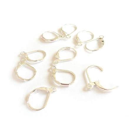 Acheter 1 paire de boucles d'oreilles dormeuses argentées claires - 1,39€ en ligne sur La Petite Epicerie - Loisirs créatifs