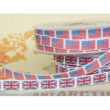 1m ruban gros grain drapeau 10 mm - Grande Bretagne 003