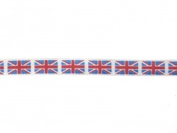 1 m of Grosgrain ribbon (10 mm) - Flag - Great Britain (no. 003)