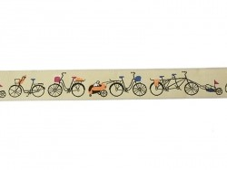1 m of woven ribbon (22 mm) - Bicycles (no. 051)