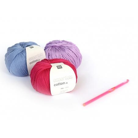 Crochet fluo 6 mm - Plastique