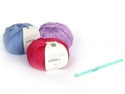 Crochet fluo 6,5 mm - Plastique